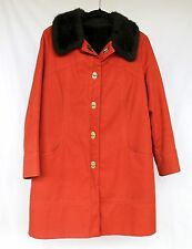 Forecaster Boston Small VTG Rust Red Plush Faux Fur Lining Duffle Coat PRISTINE