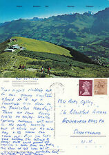 1988 SWISS ALPINE MOUNTAIN RANGE COLOUR POSTCARD PU ENGLAND