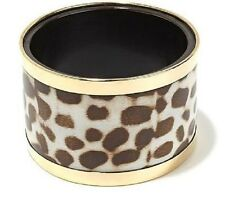 "Bajalia  ""Hetal"" Animal-Print Goldtone Trim Bangle Bracelet Available S / M / L"