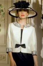 Stunning Condici mother of the bride size 14 black/cream with hat.