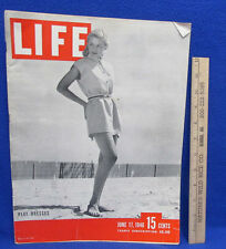 Vintage Life Magzine June 17, 1946 Play Dress Modeled On Cover Articles Pictures