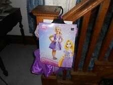 Youth Disney Princess Tangled Rapunzel 3T 4T Halloween Costume NIB Child Girls