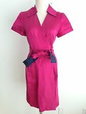"DVF Diane von Furstenberg Silk Blend ""Hutton"" Wrap Dress Fuchsia Size 6 NWT"