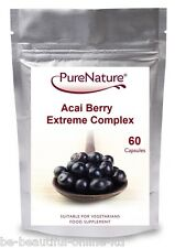 60 ACAI BERRY EXTREME FAT BURNERS, WEIGHT LOSS, DIET, SLIMMING PILLS CAPS Foil