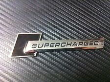 Supercharged Black Sticker 3D Racing Ford Figo Classic Fiesta Ecosport