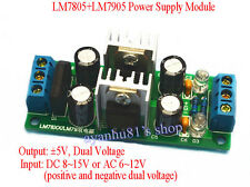 LM7805 + LM7905 ±5V Dual Voltage Regulator Rectifier Bridge Power Supply Module
