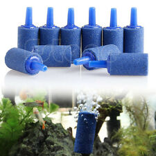 10pcs Cylinder Aquarium Bubble Air Stone Fish Tank Aeration Aerator Diffuser New