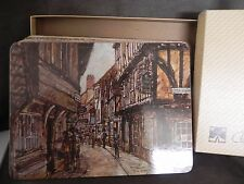 Vintage Clover Leaf Cork Backed Table mats 6 London scenes placemats