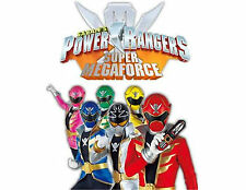 Power Rangers 48 Large Sticky White Paper Stickers Labels New