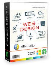 Web Design Software / HTML Editor / WYSIWYG / CSS / Webseite Homepage erstellen