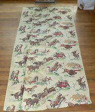 1950s Vintage Cowboys and Indians Western Curtains