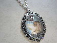 Vintage Cherub Angel Design Silver Plated Necklace New in Gift Bag
