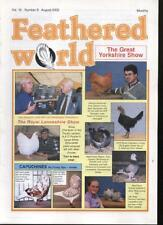 FEATHERED WORLD MAGAZINE - August 2002 Poultry Pigeons