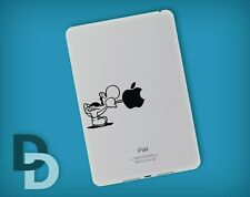 Yoshi Eating Apple iPad mini decal / Notepad sticker / Tablet decal stencil