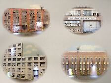 NEW O Scale Scratch Built Combo #'s 1,2,3,4 Building Flat/Fronts, MTH Lionel