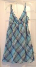 NEW! Faded Glory Womens Juniors 10 Plaid Country Dress Summer Sundress