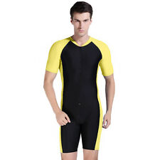 NEW XL Mens Surf Suit Wet All In One Body Run Unitard Leotard Tri Shiny Lycra