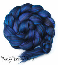 RAVEN Merino and Tussah Silk Blend Combed Top Wool Roving for Spinning, Felting