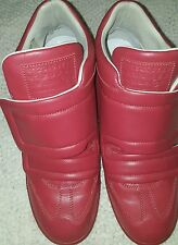 Maison Martin Margiela Red Clinic Leather Sneakers Size 10