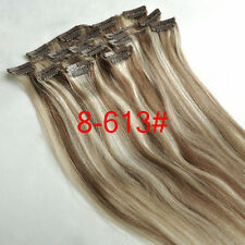Clip in Remy Hair Extensions 100% Real Human Hair Full Head 15''18''20''24''28''