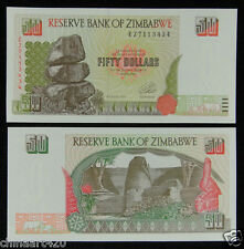 ZIMBABWE PAPER MONEY 50 DOLLARS 1994 UNC