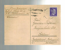 1942 Germany Buchenwald Concentration Camp Postcard Cover Jaroslav Fifka