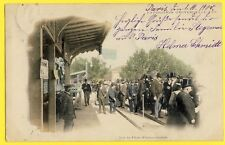 cpa PARIS Expo 1900 TROTTOIR ROULANT Gare PLATE FORME MOBILE Moving Walkway
