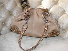 KATHY VAN ZEELAND HOBO BAG, Beige Two-tone Reptile, KVZ Purse