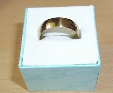 PLAIN GOLD STAINLESS STEEL5mm BAND RING - SIZE (L)