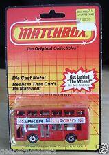 MATCHBOX Diecast Metal No. 17 London Bus 1981 England Lesney Mint Bubble Pack