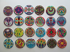 1993 Milk Caps From The Future SGI complete set of 24 pogs caps tasos