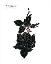 """Dentelle brodé Noir 7 """"Rose Fleur Venise Guipure Applique col robe de rayonne"""