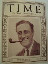 FRANKLIN D ROOSEVELT TIME MAGAZINE MAY 28 1923 COVER PAGE PHOTO FROM TIME BOOK