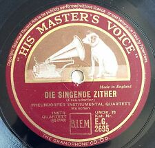 """HIS MASTER'S VOICE ~ VINTAGE ORIGINAL NIPPER GRAMOPHONE 10"""" 78rpm ZITHER RECORD"""