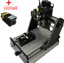 CNC Mini Milling Engraving Machine 3Axis Carving DIY Engraver +1000mw laser head