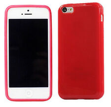 Silicone Rubber Gel Case Cover For iPhone 4, 4S, 5, 5S,  5C + Screen Protector