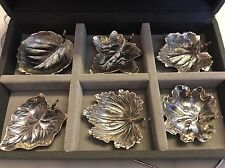 Buccellati Sterling Silver Mini Leaf Bowls - Set Of 6 Nib New