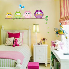 4 Owls Butterfly Wall Decal Sticker for Kids Nursery Baby Room Decor Vinyl B lxl