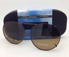 COCOONS Amber Polarized Sunglasses/Eyeglasses Over Rx Clip-on RND 2-50 Bronze