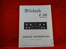 McIntosh C 28 Preamplifier Service Manual