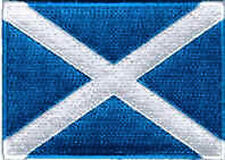 Iron On/ Sew On Embroidered Patch Badge Flag Scotland Scottish National Ecoss