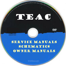 Teac Service Owner Manuals & Schematics- PDFs on DVD - Huge Collection Latest