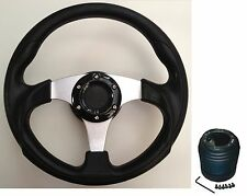 300MM STEERING WHEEL AND BOSS KIT HUB FIT VW GOLF MK1 MK2 GTI 1303 AUDI 80 SEAT
