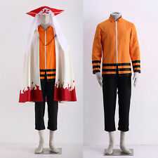 Naruto THE LAST Seventh Hokage Uzumaki Naruto Cosplay Complete Costume Full Suit
