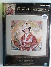 Dimensions JAPANESE MAIDEN Gold Collection Counted Cross Stitch Kit 35109 NIP