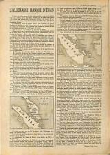 ARTICLE COMPLET Maxime Vuillaume Etain Allemagne Carte Sumatra & Borneo 1918 WWI