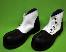 ZYKO Professional Real Leather Clown Shoes Malevo model (ZH0010) Black/White