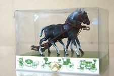 BRUMM HISTORICAL SERIES 01 BAY EQUESTRIAN HORSE SET CARRIAGE COACH WAGON n