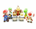 "Lot 5 SUPER MARIO BROS 4-6"" MARIO LUIGI YOSHI RED TOAD FIGURE TOY NEW-MS2083"