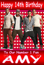 JLS 'NUMBER 1 FAN' (1) Personalised Birthday Card! ANY NAME / AGE!!..Unique!!